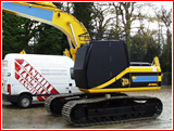 JCB JS160L with Vandal Guards