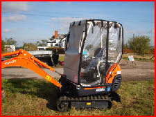 Kubota KX36 with Clear PVC Cover