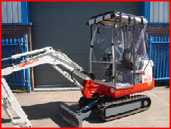 Takeuchi TB016 with Clear PVC Cover